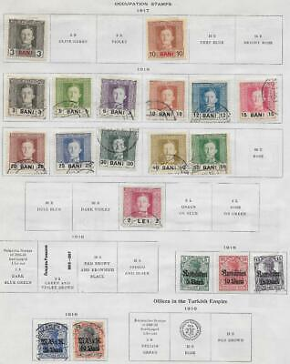19 Romania Occupation Stamps from Quality Old Album 1917-1918