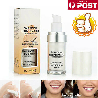 Magic Flawless Color Changing Foundation TLM Makeup Change To Your Skin Tone  PP