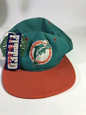 3ef78cb3 MIAMI DOLPHINS HAT vtg 80's 90's snap back LOGO 7 NEW tags original ...
