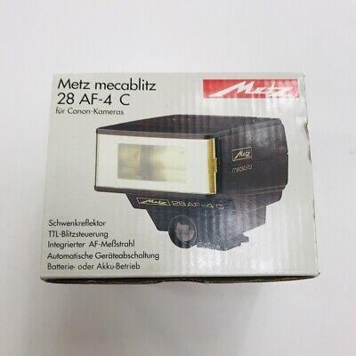 Metz Mecablitz 28AF-4C Flash For Canon Brand New Old Stock Japan