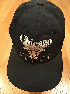 e46e8dcb87e Vintage 90 s Chicago Bulls Hat Snapback Cap NBA Spell Out Distressed Jordan  Era