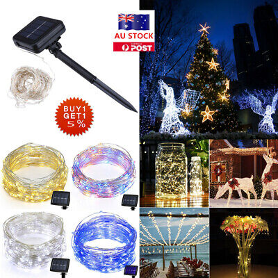 10M / 20M LED Warm White Solar Powered String Lights Waterproof Xmas Party Decor
