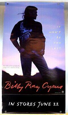 Billy Ray Cyrus 1993 es Won'T Be The Last Tear Away Promo Poster 91.4x50.8cm Oop