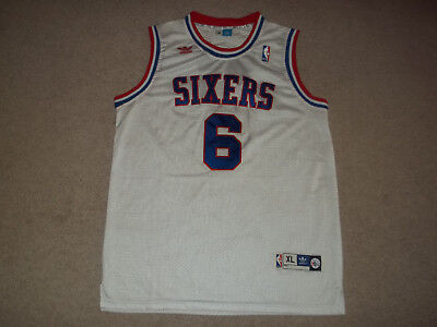 adidas sewn Julius Erving Doctor J Philadelphia 76ers Sixers White  6 XL  Jersey cd4799e40