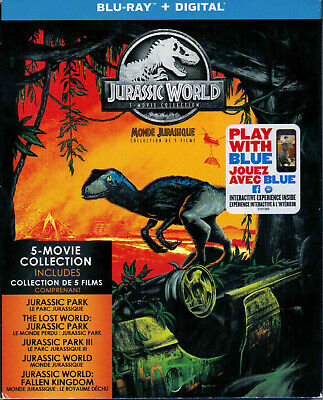 Jurassic World 5-Movie Collection (Blu-ray Disc, 2018)