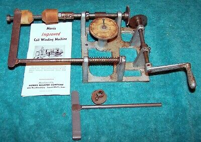Morris Coil Winder for winding antique, crystal, and ham radio coils .. Works