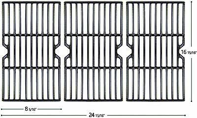 HyG612C Porcelain Coated Cast Iron Grill Grates for Charbroil, Kenmore Gas Grill