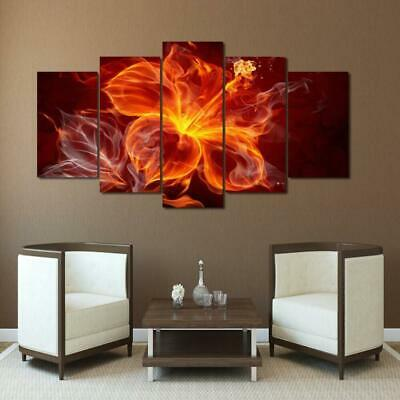 FIERY ORCHID Canvas Art Print for Wall Decor and Painting. Flower Canvas Art.