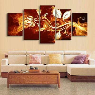 FLOWERS OF FIRE Canvas Art Print for Wall Decor and Painting. Flower Canvas Art.