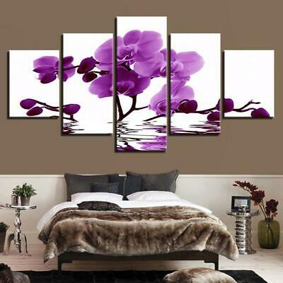 BLOOMING ORCHID Canvas Art Print for Wall Decor and Painting. Flower Canvas Art.