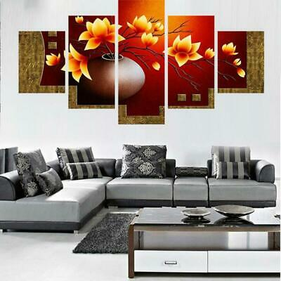 FLOWERS IN A POT Canvas Art Print for Wall Decor and Painting. Flower Canvas Art