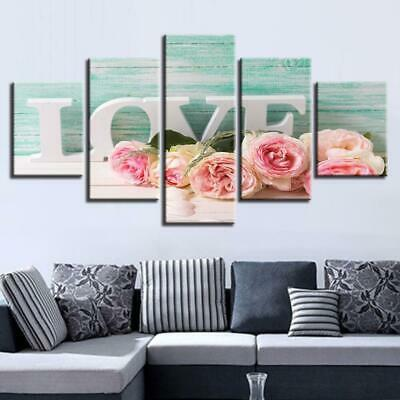 Pink Roses Love Canvas Art Print for Wall Decor and Painting. Flower Canvas Art.
