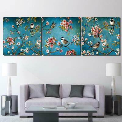 Birds and Butterflies Canvas Art Print for Wall Decor and Painting. Flower Canva