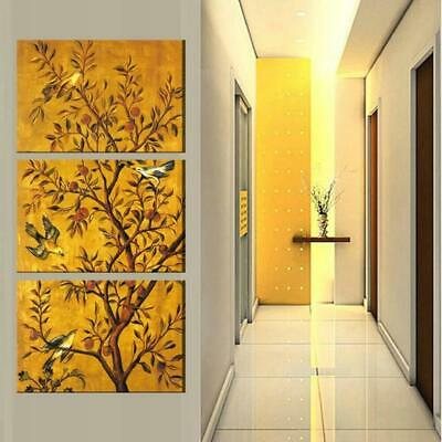 Birds on a Tree Canvas Art Print for Wall Decor and Painting. Flower Canvas Art.