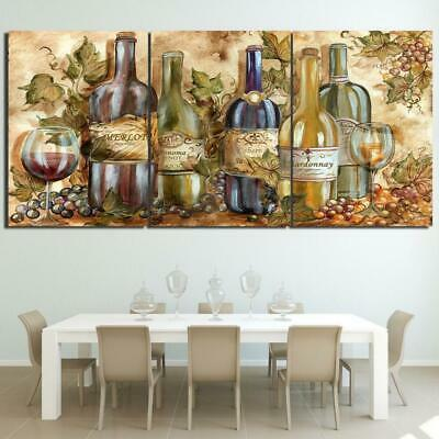 WINE COLLECTION Canvas Art Print for Wall Decor Wine and Whiskey Scotch Art