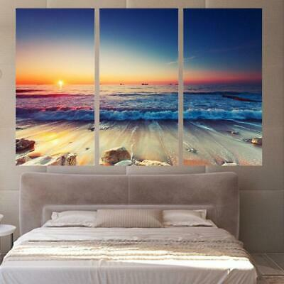Beach Sunrise Canvas Art Print for Wall Decor and Painting of Scenic View Landsc