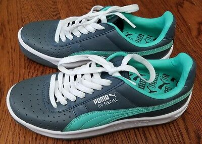 68bff1cf952 Puma GV 343569-71 GV Special Turbulence Green Athletic Sport Shoes Size 4 1