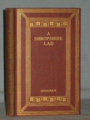1932 Book A Shropshire Lad By A. E. Housman