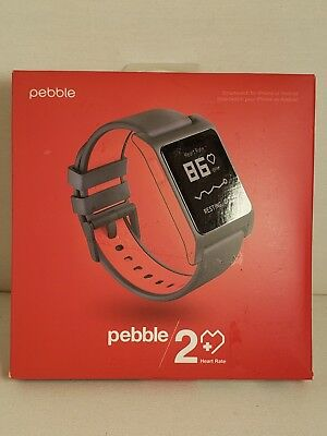 Pebble 2 Heart Rate Smart Watch Work Whit Iphone Or Android Black And Red...