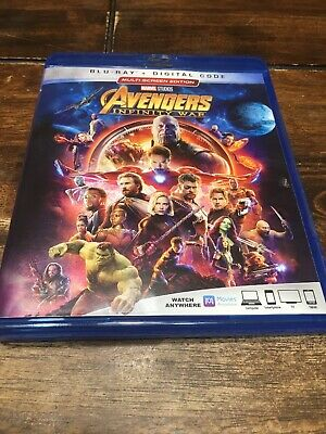 MARVEL AVENGERS INFINITY WAR BLU RAY Multi Screen Edition UPC 786936858136