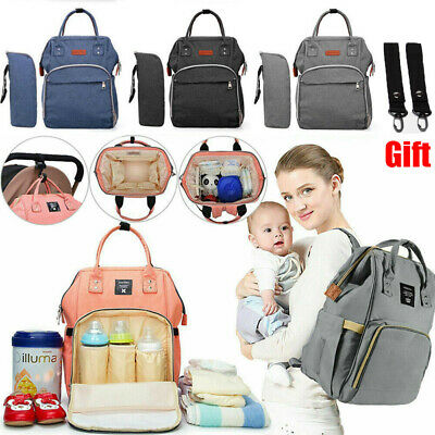 Mummy Baby Changing Bag Nappy Diaper Wipe Clean Maternity Backpack Multi-Use Bag