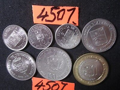 7 x assorted coins from Venezuela    35   gms      Mar4507