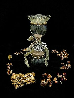 Beautiful French Glass Vintage Time Keeper Hour Glass  Shabby Chic Brocante