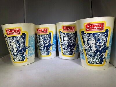 Star Wars - Lot of 4 - 1982 ESB - Coca Cola Cups - Never Used - Vintage