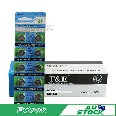 Ag13 Lr44 Cx44 357A Alkaline Button / Coin Cells Batteries Watch Battery