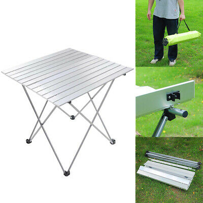 Folding Camping Table Desk Roll Up Portable Outdoor Garden Picnic BBQ Aluminum