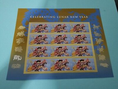 Lunar New Year: Year of the Dragon - Sheet of 12 Forever Postage Stamps
