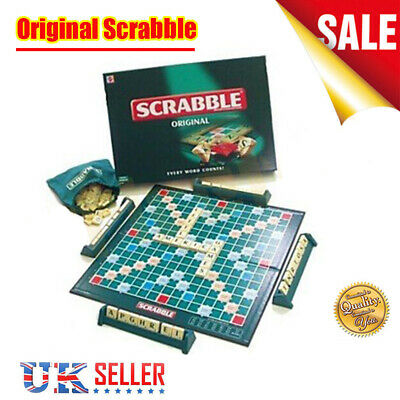 UK Original Scrabble Board Game Family Kids Adult Educational Toys Puzzle Games