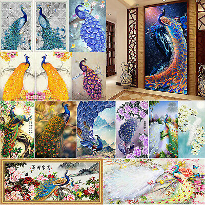 5D Diamond Embroidery Painting DIY Flower Peacock Cross Stitch Craft Home Decor