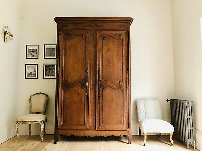 Antique French Oak 19th Century Armoire Wardrobe Linen Press  - Super Condition