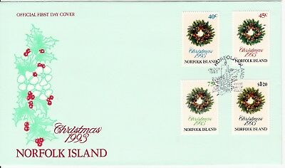 1993 - Norfolk Island  -  Christmas - FDC