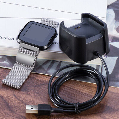 ABS Cradle Dock USB Data Cable Base Desktop Charger For Fitbit Versa Watch