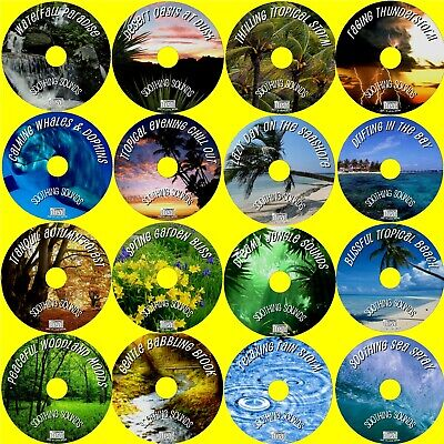 Sounds Of Nature 16 Soothing Audio Cd's Birds Sea Rain Jungle Waves Thunder Wind