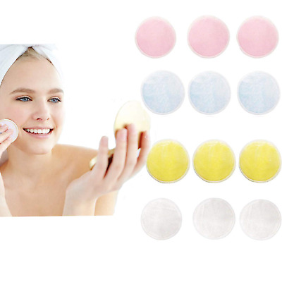 Chnaivy Makeup Remover Pads, Reusable Bamboo Make-up Pads, Washable Pad with Bag