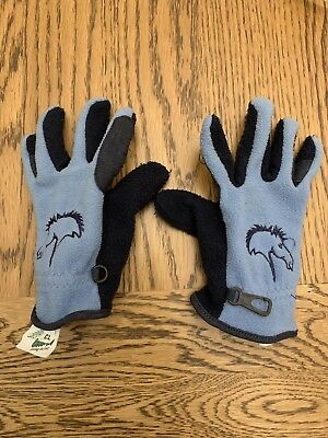 Kids riding gloves, Blue. Suitable For Age 7ish