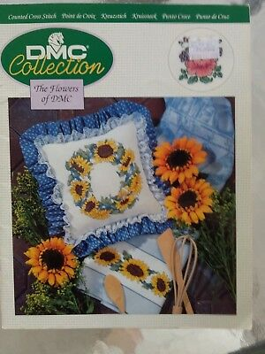 The Flowers Of Dmc Crossstitch Charts 32 Pages Includes Roses Poppies And More