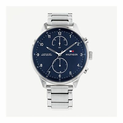 TOMMY HILFIGER MEN S Chase Chronograph Brown Leather 1791487 Watch ... 2a17bf091b