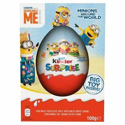 KINDER SURPRISE LARGE EASTER MAXI EGG DESPICABLE ME MINIONS TOY 100g Rare 2019