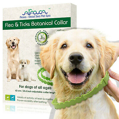 Flea and Tick Control Prevention Collar for Small M Large Dogs Puppies Natural