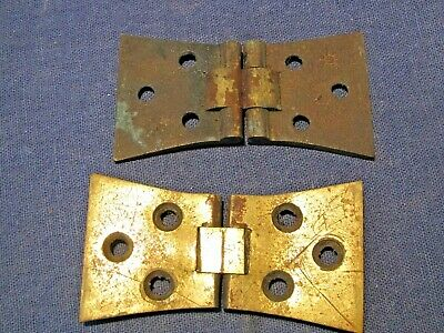 Old brass hinges x 2