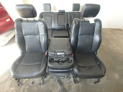 11-18 Dodge 1500 2500 3500 Laramie Front Rear Seat Console Black Leather Power