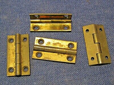 Old brass hinges x 4