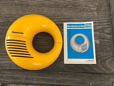 "Vintage Panasonic 1970National R-72 Toot-A-Loop AM Radio ""GLOSSY YELLOW"" Works"