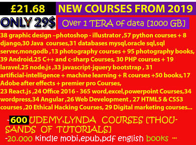 600 UDEMY, LYNDA  COURSES  + 20.000 books + IELTS + bonus...