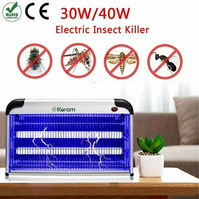 30W/40 Electric Insect Killer Mosquito Fly Pest Zapper UV Tulbs Catcher Trap