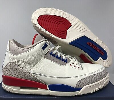 Nike Air Jordan 3 Retro International Flight Sail-Sport Royal Sz 15  136064- a7a09e2fe